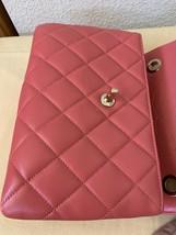 AUTH CHANEL QUILTED LAMBSKIN CORAL PINK TRENDY CC 2 WAY HANDLE FLAP BAG GHW image 6
