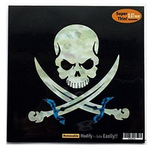 Pirate Skull Inlay Sticker Decal For Guitar & Bass - $12.11