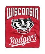 Wisconsin Badgers Blanket 50x60 Raschel Alumni Design**Free Shipping** - $35.20