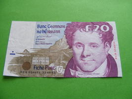 1995 Irish Twenty Pound £20 Banknote Ireland Daniel O'Connell C Series - $49.99