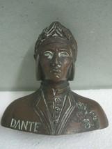 Antique bust Figures Figurine copper Dante  - $37.11