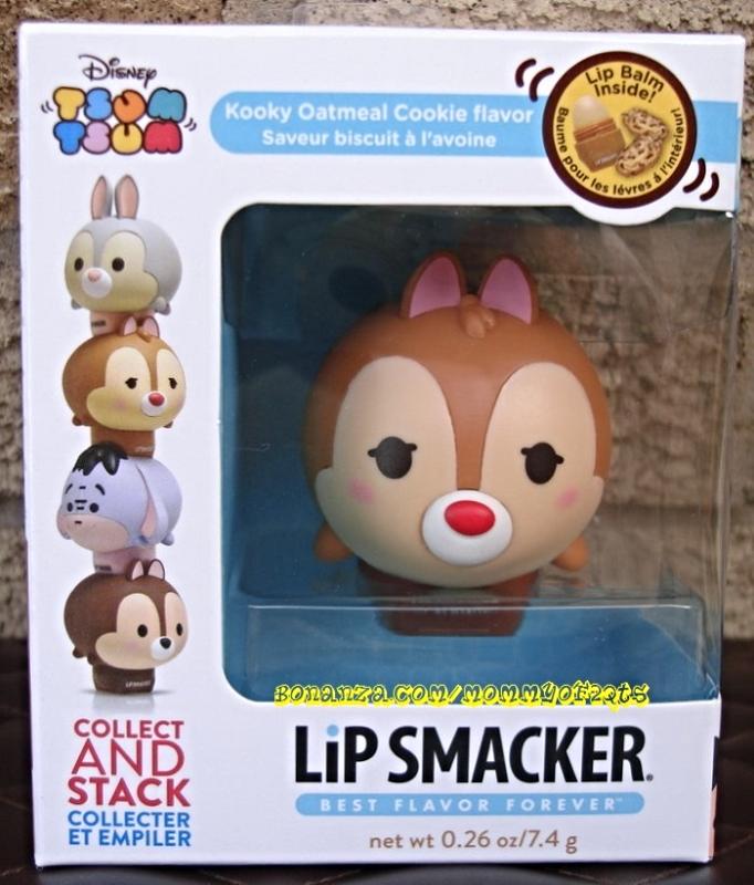 Dale Lip Smacker Tsum Tsum Stackable Lip Balm Kooky Oatmeal Cookie Rescue Ranger - $9.50