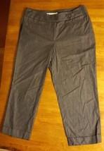 Ann Taylor Loft Petites Julie Capri Crop Pants 4P Stretch Gray Blue Wome... - $12.19