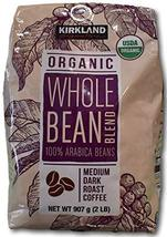 Kirkland Signature Organic Whole Bean Blend 100 % Arabica Beans Net Wt (... - $27.03