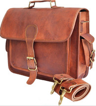 "New Handmade Man's 15"" Unisex Office Vintage Soft Leather Formal Travel ... - $38.34"