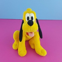 "Disney Plush Pluto Stuffed Animal 8"" Sitting Dog Mickey Mouse   - $17.82"