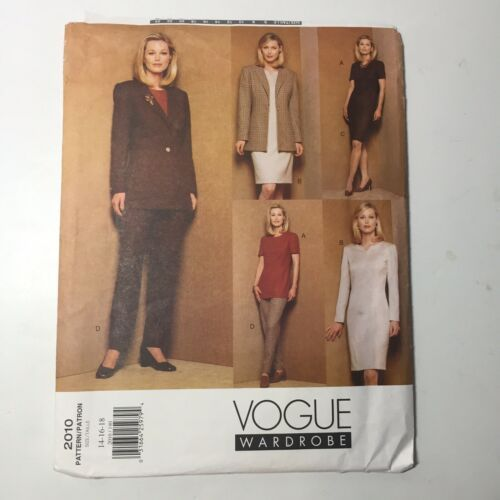 Primary image for Vogue 2010 Size 14 15 18 Misses' Misses Petite Jacket Dress Top Skirt Pants