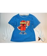 Nike Toddler Boys Long Sleeve T-Shirt Blue White Basketball Sizes 2T or ... - $17.99