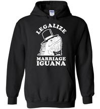 Legalize Marriage Iguana Blend Hoodie - $32.99+
