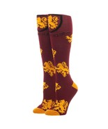 Harry Potter Hogwarts Gryffindor Logo Burgundy and Yellow Knee High Socks - $11.95
