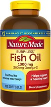 Nature Made Fish Oil Burp-Less 1000 mg - Pack of 2 - 320 softgels each - $93.80