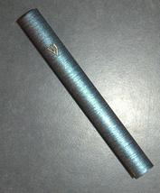 Judaica Mezuzah Case Metallic Blue Stripes Aluminum 12 cm image 4