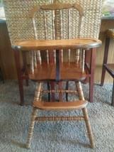 VTG wood Wooden Highchair High Chair Jenny Lind 1st birthday - $154.26