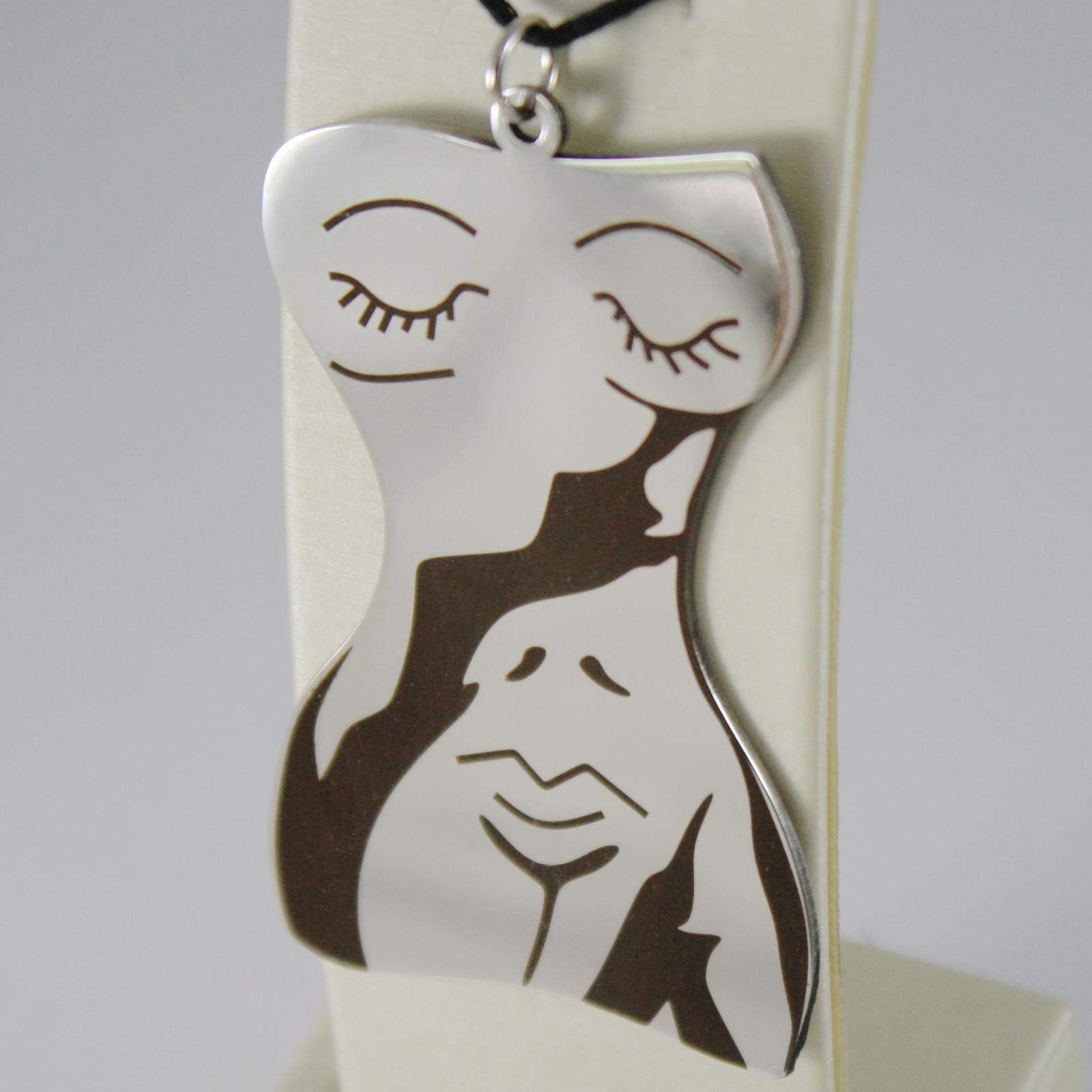 STAINLESS STEEL WOMAN BODY PENDANT CHARMS, FINELY ENGRAVED, BY KATIA D'ANGELO