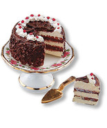 MINIATURE CORNER DOLLHOUSE MINIATURES Black Forest Cake Set #MC16625 - $15.00