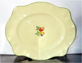 Vintage Johnson Bros. England Victorian Green Band Flower Center Serving... - $15.91