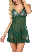 Avidlove Women's Lingerie Lace Babydoll Strap Chemise Chiffon Sleepwear Ruffle M image 5
