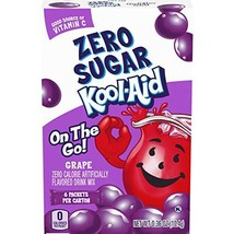 Kool-Aid Grape Sugar Free Powdered Drink Mix, 72 count Pack of 12