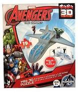 Marvel Avengers The Quinjet Mini 3D Puzzle Ages 6+ 19 Pieces Hulk Iron Man - $9.85