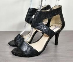 Jessica Simpson Mekos Cutout Sandal, Black Fabric, Womens Size 7 M / 37 - $39.59