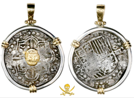 ATOCHA PENDANT 1619 BOLIVIA MEL FISHER COA PIRATE GOLD TREASRUE COIN JEW... - $1,950.00