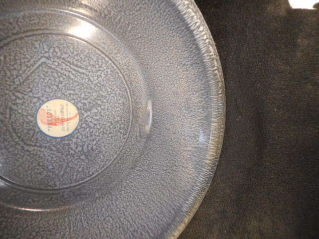 """Vintage Gray 14"""" Enamelware Basin"""
