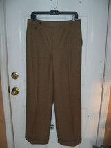 Lauren Ralph Lauren Lined Wool Plaid Flat Front Cuffed Pant Size 10 Wome... - $39.20