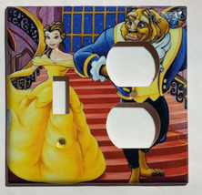 Beauty and the beast Light Switch Outlet duplex wall Cover Plate Home Decor image 7