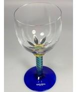 One Kosta Boda Palm Tree wine glass Ken Done wedding gift tropical barwa... - $227.78