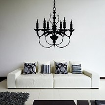 ( 31'' x 27'') Vinyl Wall Decal Chandelier / Lamp with Candles Art Decor Sticker - $31.89