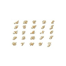 24K Gp Nail Charm Top Nail Art Gold Alphabet Letter R - $6.75