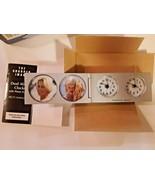 SHARPER IMAGE Travel Dual Analog Alarm Clocks With Photo Frames New - $19.79