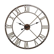1940's Belgium  INdustrial Hardware Look Open Roman Numerals Clock Large... - £96.70 GBP