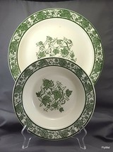 "Royal China Inc Green Trellis Chop Plate 12"" and Vegetable Bowl 9"" - $25.74"