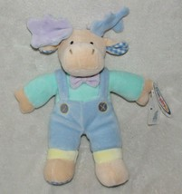 Mary Meyer Baby My First Little Moose Stuffed Plush Velour Pastel Bean Bag 1999 - $79.19