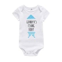WINZIK Baby Boy Girl Bodysuit Romper Outfit Grandpa's Fishing Buddy Infa... - $14.50