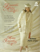 Irresistible Arans Patons 514 Pattern Book Knitted Mens Womens Fashions - $9.99
