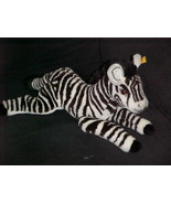 """16"""" Steiff  Molly Zebra Plush Stuffed Toy With Chest Tag Number 0411/40 - $93.49"""