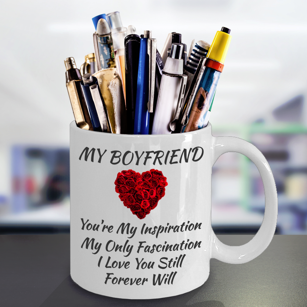 Birthday Anniversary Love Engagement Gift For Boyfriend BF Color Changing Mug