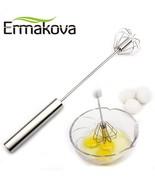Ermakova® Egg Wire Whisk Stainless Steel Hand Push Egg Beater Blender Wi... - $5.96