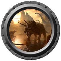 Dinosaur - Porthole Wall Decal - $14.00