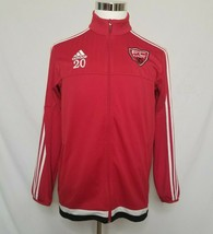 Adidas FC Europa Mens Track Jacket Full Zip Soccer Red  - $29.99