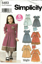 Simplicity Girls 6 Made Easy Dress Purse Pattern 5483 Size 3 4 5 6 7 8  New - $7.18