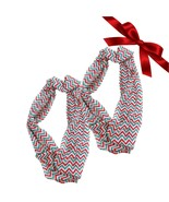 2pk Christmas Chevron Striped Sheer Infinity Scarves Gift Set Shawl Wraps - €6,65 EUR