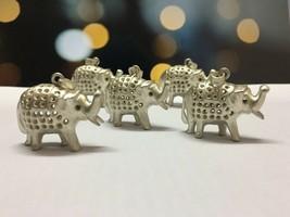 Sterlingsilber Set Mit 5 Elefanten 925 Sterlingsilber Elefant Anhänger P... - $41.57