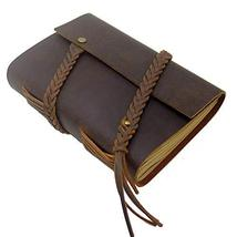 Leather Bound Journal, Handmade Genuine Leather Vintage Writing Notebook... - $21.51