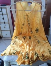 Ladies yellow embroidered beach coverup sundress from Melissa - $14.00
