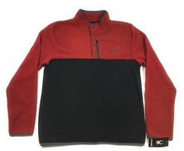 SPYDER Ski Pullover Polar Fleece 1/4 Button Ski Jacket Devil Red 71D6405... - $54.12