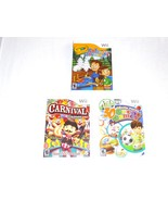 Wii Lot - Carnival Games 30 Great Games Family Party Crayola Colorful Jo... - $12.99