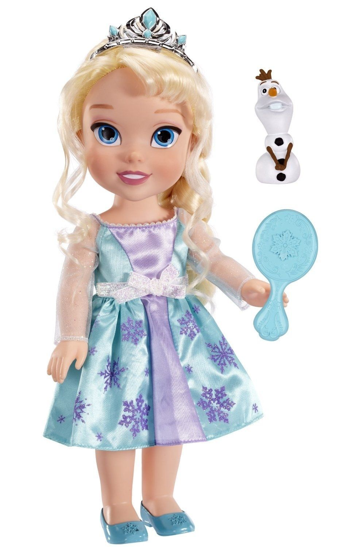 Princess Elsa Frozen Toddler 14 Doll Plus Olaf Snowman Friend, Disney, 3+Years